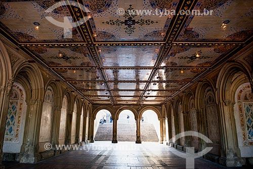 Interior do Terraço de Bethesda no Central Park  - Cidade de Nova Iorque - Nova Iorque - Estados Unidos