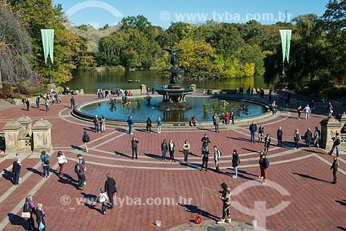 Fonte de Bethesda - também conhecida como Anjos das Águas - no Central Park  - Cidade de Nova Iorque - Nova Iorque - Estados Unidos