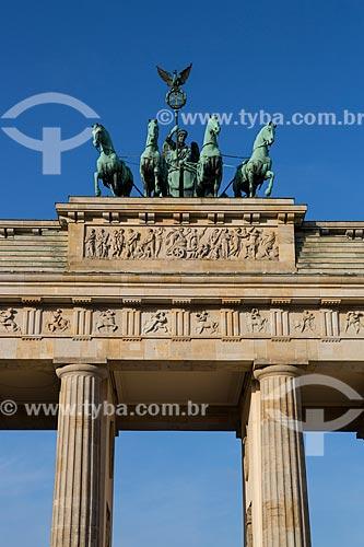 Detalhe do Portão de Brandemburgo (século XVIII)  - Berlim - Berlim - Alemanha