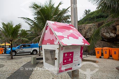 Casa de passarinho do projeto Ninho de Livro - incentivo à leitura através de bibliotecas colaborativas  - Rio de Janeiro - Rio de Janeiro (RJ) - Brasil