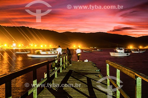 Cais na Ilha das Campanhas - Praia da Armação do Pântano do Sul  - Florianópolis - Santa Catarina (SC) - Brasil