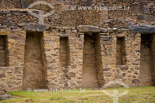 Detalhe de construção histórica na cidade de Ollantaytambo  - Ollantaytambo - Departamento de Cusco - Peru
