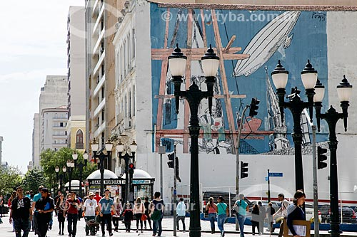 Rua no centro de Curitiba  - Curitiba - Paraná (PR) - Brasil