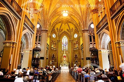 Interior da Catedral Metropolitana de Curitiba (1893) - Catedral Basílica Menor Nossa Senhora da Luz  - Curitiba - Paraná (PR) - Brasil