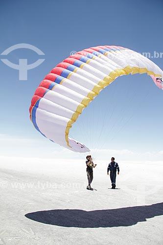 Parapente no Salar de Uyuni   - Uyuni - Departamento Potosí - Bolívia