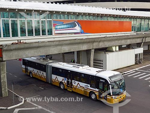 Estação do Aeromóvel de Porto Alegre no Aeroporto Internacional Salgado Filho  - Porto Alegre - Rio Grande do Sul (RS) - Brasil