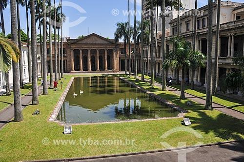 Jardim interno do Palácio do Itamaraty (1854) - antigo Ministério das Relações Exteriores, atual sede do Escritório de Representação do mesmo ministério no Rio de Janeiro  - Rio de Janeiro - Rio de Janeiro (RJ) - Brasil