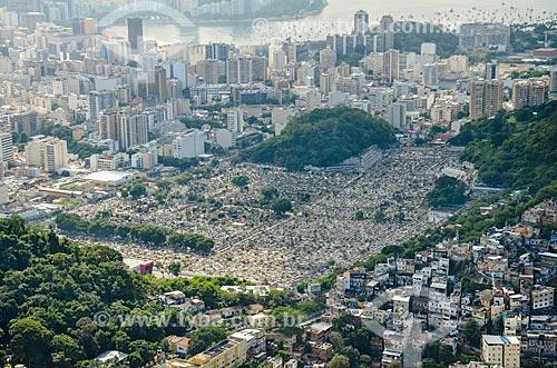 Vista do Cemitério São João Batista a partir do Morro dos Cabritos  - Rio de Janeiro - Rio de Janeiro (RJ) - Brasil