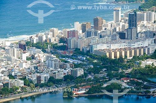 Vista do Clube dos Caiçaras com o Jardim de Alah a partir do Morro dos Cabritos  - Rio de Janeiro - Rio de Janeiro (RJ) - Brasil