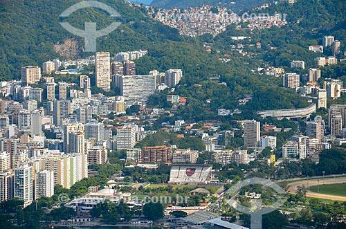Vista do Clube de Regatas Flamengo a partir do Morro dos Cabritos  - Rio de Janeiro - Rio de Janeiro (RJ) - Brasil
