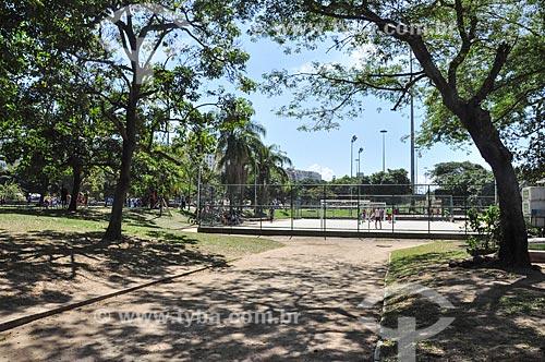 Aterro do Flamengo com campo de futebol ao fundo  - Rio de Janeiro - Rio de Janeiro (RJ) - Brasil