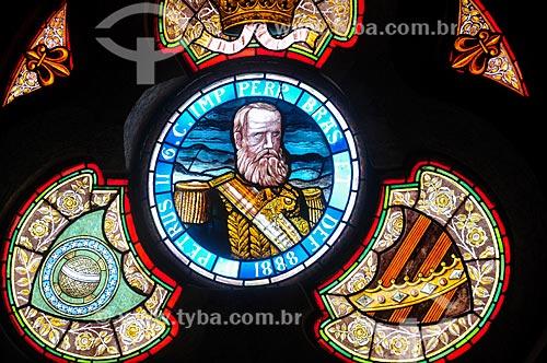 Detalhe de vitral no interior do castelo da Ilha Fiscal  - Rio de Janeiro - Rio de Janeiro (RJ) - Brasil