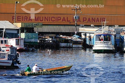 Vista da Feira da Panair (1951) a partir do Rio Negro  - Manaus - Amazonas (AM) - Brasil