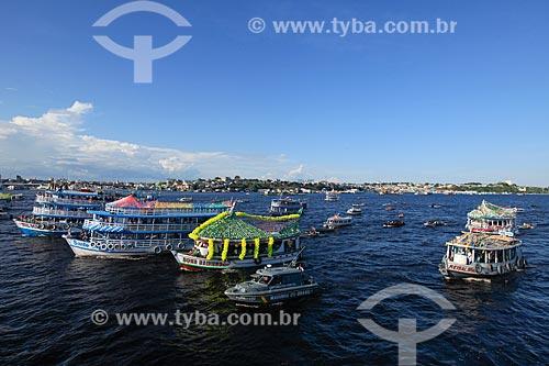 Procissão fluvial em celebração à São Pedro no Rio Negro  - Manaus - Amazonas (AM) - Brasil
