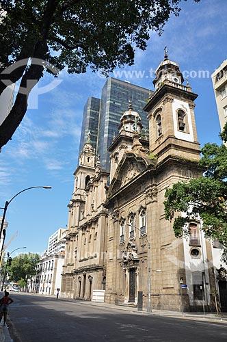 Fachada da Igreja de Nossa Senhora do Carmo (1770) - antiga Catedral do Rio de Janeiro  - Rio de Janeiro - Rio de Janeiro (RJ) - Brasil