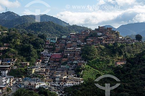 Favela no bairro de Valparaíso  - Petrópolis - Rio de Janeiro (RJ) - Brasil