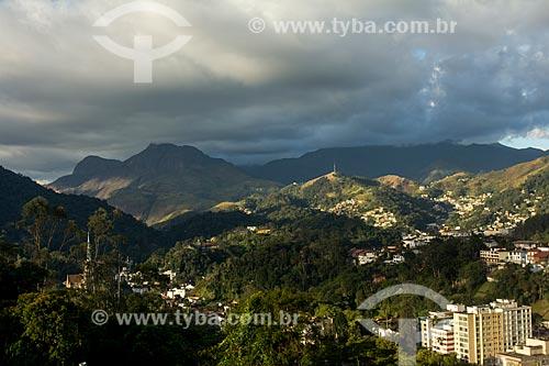 Vista da cidade de Petrópolis a partir do mirante do Trono de Fátima  - Petrópolis - Rio de Janeiro (RJ) - Brasil