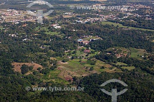 Foto aérea da Ilha de Guaratiba próximo à Reserva Biológica e Arqueológica de Guaratiba  - Rio de Janeiro - Rio de Janeiro (RJ) - Brasil