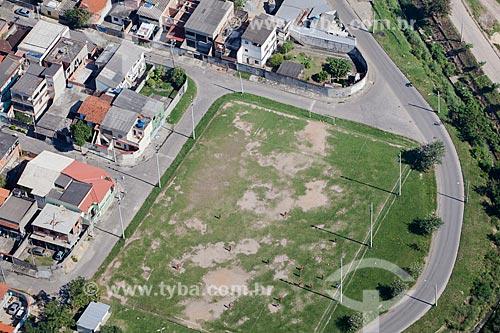 Foto aérea de campo de futebol no bairro de Campo Grande  - Rio de Janeiro - Rio de Janeiro (RJ) - Brasil
