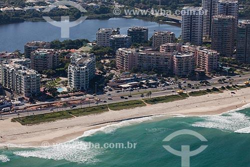 Foto aérea da orla do Parque Natural Municipal de Marapendi  - Rio de Janeiro - Rio de Janeiro (RJ) - Brasil