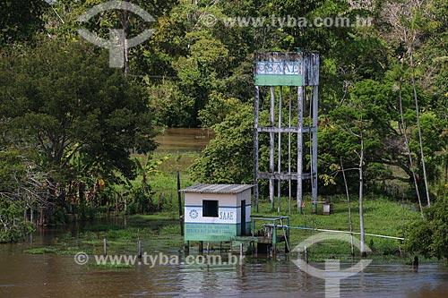 Caixa dágua do Serviço Autônomo de Água e Esgoto (SAAE) da cidade de Urucará  - Urucará - Amazonas (AM) - Brasil