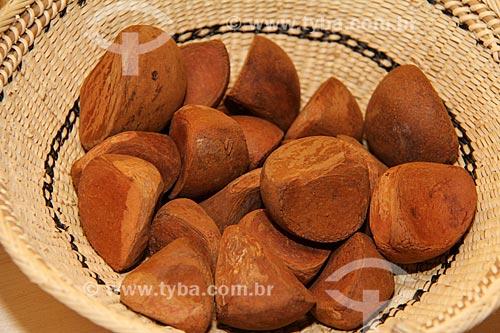 Detalhe de sementes de Andiroba (Carapa guianensis)  - Parintins - Amazonas (AM) - Brasil