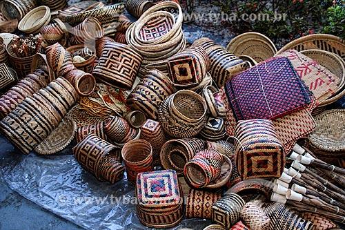 Artesanato em palha à venda em Parintins  - Parintins - Amazonas (AM) - Brasil