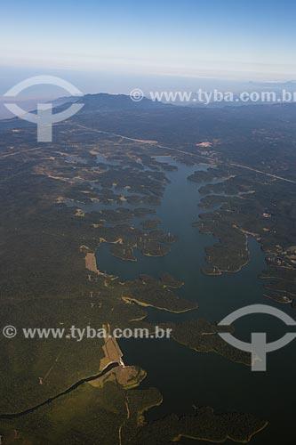 Vista aérea da Represa Billings  - São Bernardo do Campo - São Paulo (SP) - Brasil