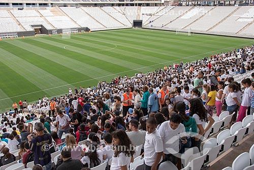 Evento-teste da Arena Corinthians - partida entre  crianças  - São Paulo - São Paulo (SP) - Brasil