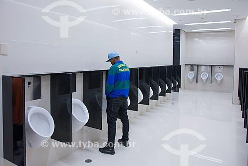 Interior do banheiro da Arena Corinthians  - São Paulo - São Paulo (SP) - Brasil