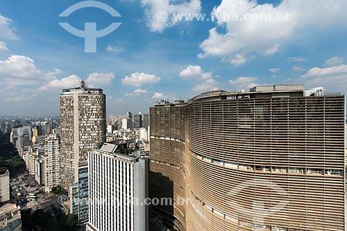 Vista do Edifício Copan (1966) com o Edifício Circolo Italiano (1965) - mais conhecido como Edifício Itália - ao fundo  - São Paulo - São Paulo (SP) - Brasil