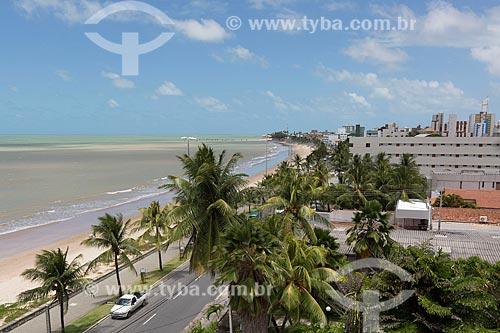 Orla da Praia de Manaíra com o Hotel Tropical Tambaú ao fundo  - João Pessoa - Paraíba (PB) - Brasil