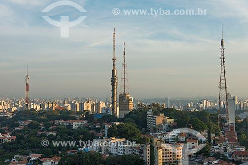 Antenas no bairro Sumaré  - São Paulo - São Paulo (SP) - Brasil