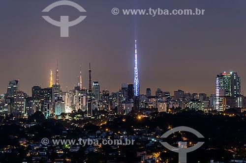 Vista da região da Avenida Paulista a partir do bairro do Sumaré  - São Paulo - São Paulo (SP) - Brasil