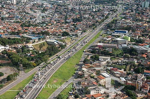 Vista aérea de trecho do Anel Rodoviário Celso Mello Azevedo próximo à Belo Horizonte  - Belo Horizonte - Minas Gerais (MG) - Brasil
