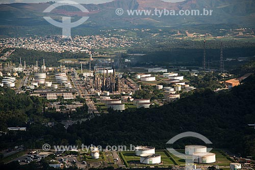 Foto aérea da Refinaria Gabriel Passos (REGAP)  - Betim - Minas Gerais (MG) - Brasil