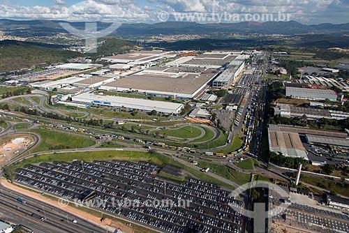 Foto aérea do pátio da montadora FIAT Automobiles  - Betim - Minas Gerais (MG) - Brasil