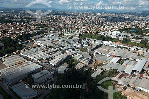 Foto aérea do distrito industrial no bairro Jardim Piemont  - Betim - Minas Gerais (MG) - Brasil