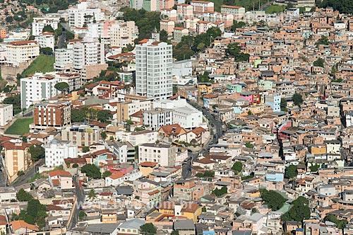 Foto aérea da favela da Serra e prédios  - Belo Horizonte - Minas Gerais (MG) - Brasil
