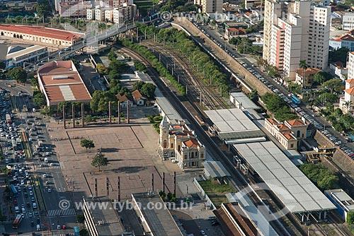 Foto aérea do Museu de Artes e Ofício na Estação Central de Belo Horizonte (1895)  - Belo Horizonte - Minas Gerais (MG) - Brasil