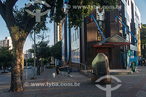 Pedra de Quartzo - conhecida como Patriarca e considerada uma das maiores do mundo - encontrada em Teófilo Otoni em 1940 em frente ao Museu de Mineralogia Professor Djalma Guimarães  - Belo Horizonte - Minas Gerais (MG) - Brasil