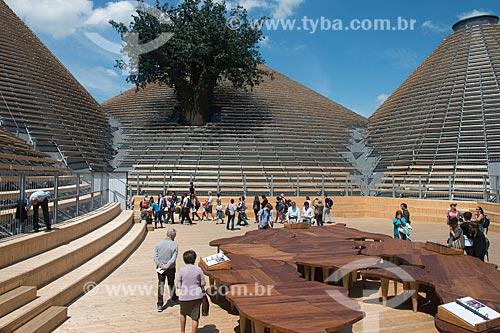 Interior do Pavilhão zero durante a EXPO 2015 - tema: alimentar o planeta, energia para a vida  - Milão - Província de Milão - Itália