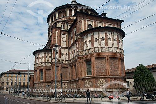 Chiesa di Santa Maria delle Grazie (Igreja e Convento Dominicano de Santa Maria da Graça) - 1497 - abriga a pintura da A Última Ceia de Leonardo da Vinci  - Milão - Província de Milão - Itália