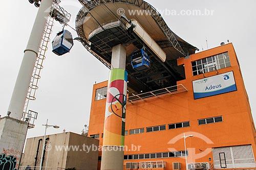 Teleférico do Alemão - operado pela SuperVia - Estação Adeus  - Rio de Janeiro - Rio de Janeiro (RJ) - Brasil