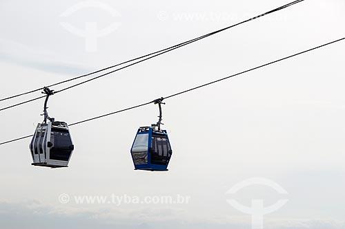 Gôndolas do teleférico do Alemão - operado pela SuperVia  - Rio de Janeiro - Rio de Janeiro (RJ) - Brasil