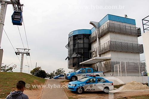 Unidade de Polícia Pacificadora (UPP) próxima ao Teleférico do Alemão - operado pela SuperVia  - Rio de Janeiro - Rio de Janeiro (RJ) - Brasil
