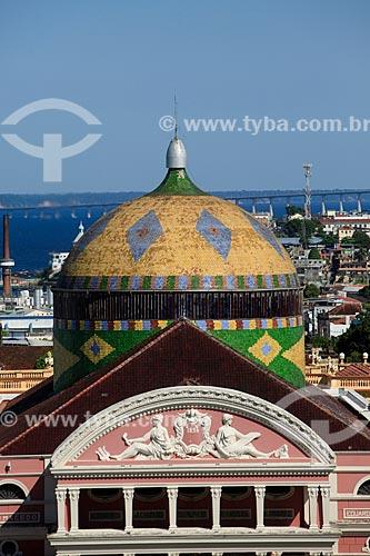 Detalhe da cúpula do Teatro Amazonas (1896)  - Manaus - Amazonas (AM) - Brasil