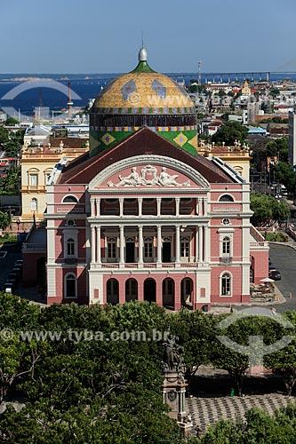 Vista geral do Teatro Amazonas (1896)  - Manaus - Amazonas (AM) - Brasil