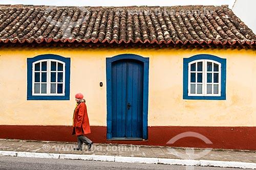 Fachada de casario no centro histórico de São José  - São José - Santa Catarina (SC) - Brasil