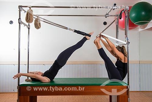 Aula de Pilates - alongamento com cadillac  - Rio de Janeiro - Rio de Janeiro (RJ) - Brasil